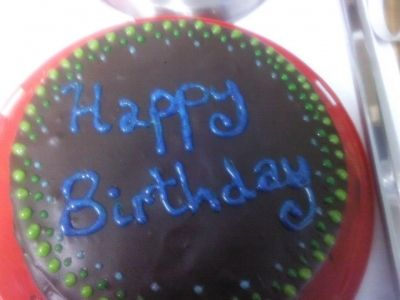A Chocolate Birthday Cake Filled with Chocolate Mocha Pudding by adding 1 teaspoon instant coffee crystals to the pudding