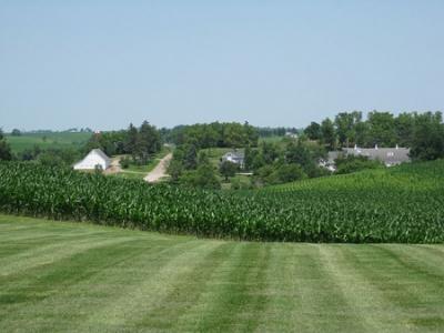 A Typical Iowa Farm Scene - Maytag Dairy Farm near Newton, Iowa