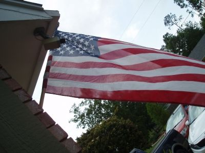 My flag flying high and free