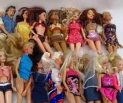 Barbie collection in played with condition