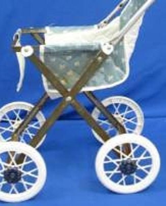 Vinyl and metal Strollers were popular from 1960-1970