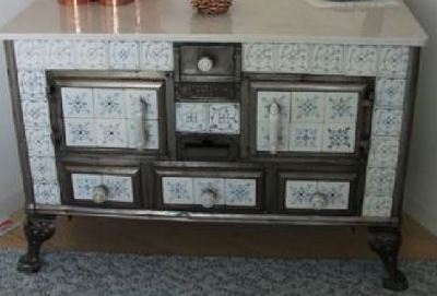 A decorative stove from Europe