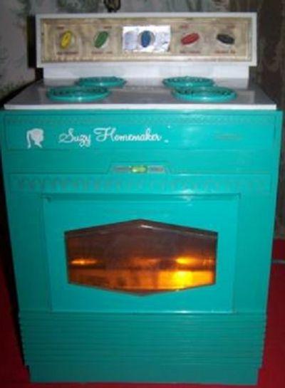 "A children's ""Suzy Homemaker"" toy stove 60's era"