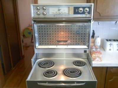 1970's Kenmore with warming surface top and built in microwave
