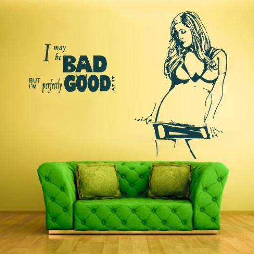 Bad Girl Wall Quote