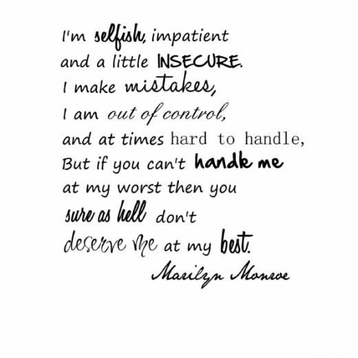 Marilyn Monroe Vinyl Wall Lettering Quote