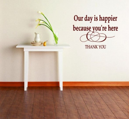 Thank you quote for the wall