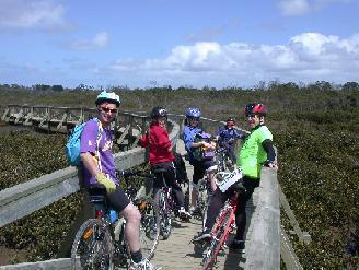 Bike Riders on Hastings Boardwalk