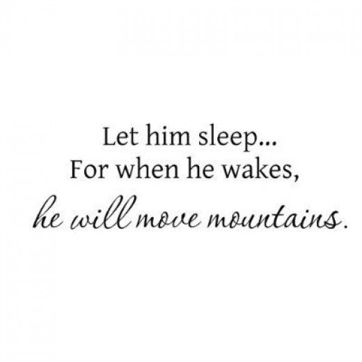 Let Him Sleep...Baby Wall Quote