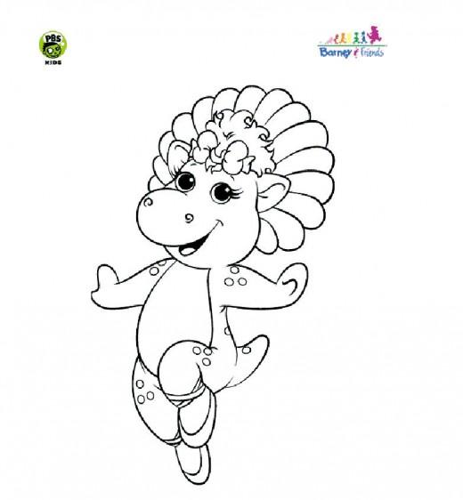Baby Bop coloring sheet