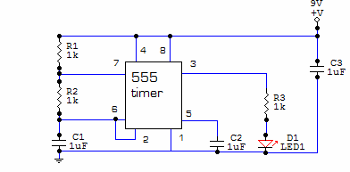 Led flasher circuit