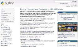 Python home page