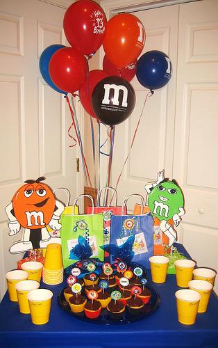M & M's Birthday Party