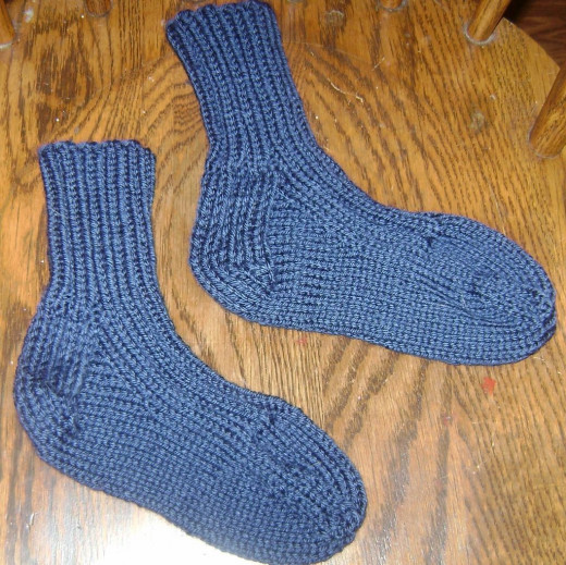 Warm worsted-weight socks