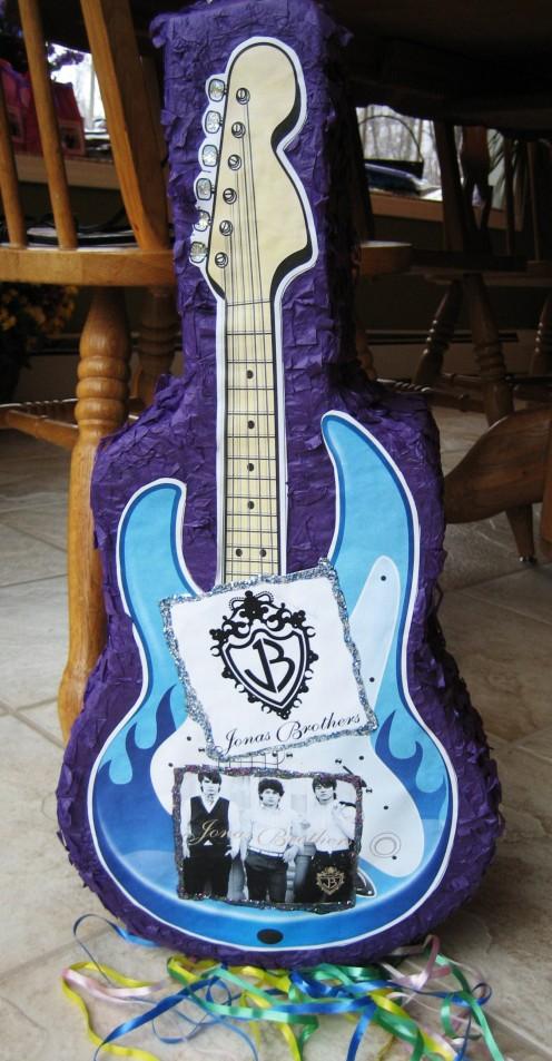 Jonas Brothers Guitar Pinata