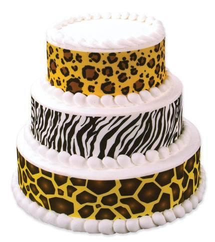 Tiered Wild Animal Print Cake