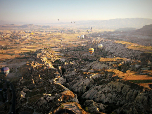 Hot Air Ballooning in Cappadocia. Try to find room in your budget, it was worth the small splurge!