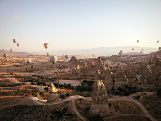 Hot Air Ballooning in Cappadocia - a highlight of our trip!