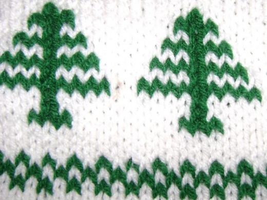 fair isle knitting close-up