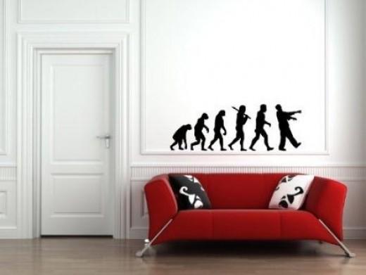 Zombie Evolution - Wall Vinyl Decal