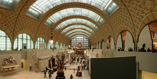 "Main gallery on the ground floor of the Musee d""Orsay - which is housed in a former railway station"