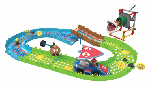 K'NEX Nintendo Mario Kart & Piranha Plant Slide Track Set