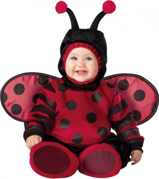 Lil Characters Unisex-baby Infant Lady Bug Costume