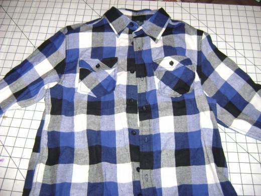 Boy's shirt before styling