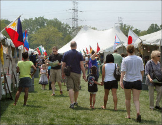 It was a beautiful, warm day in Skokie - perfect for a festival.