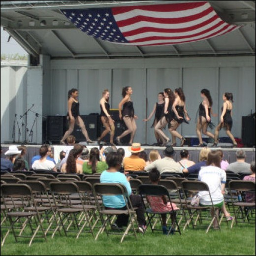 Local dance troupes performed.