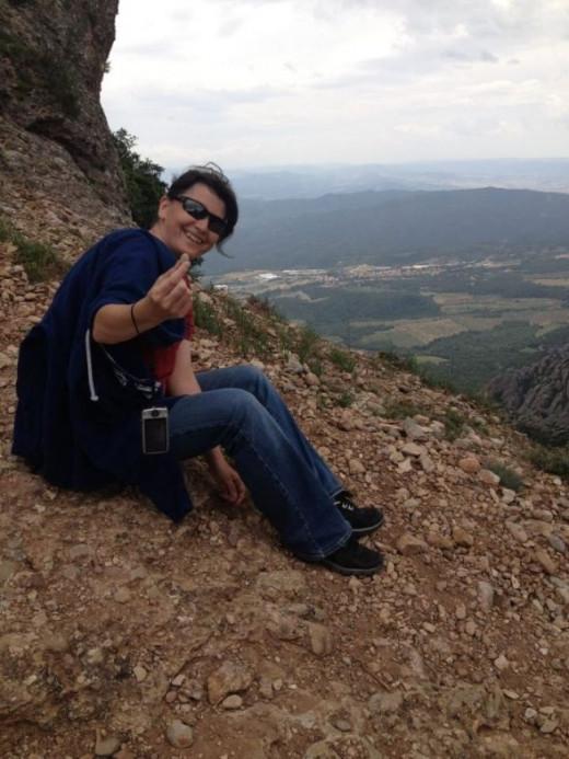 Top of Montserrat in Spain