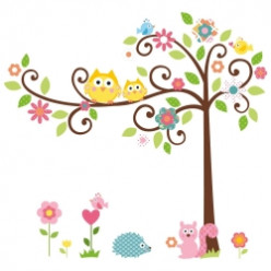 Tree Wall Decals for Kids Rooms