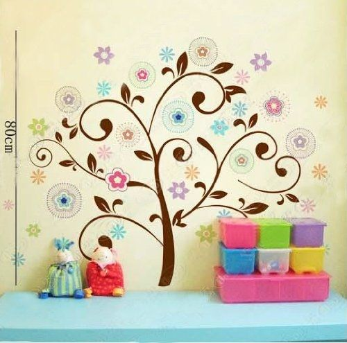 Wall Decor Removable Decal Sticker - Colorful Tree