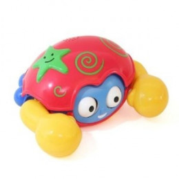 Kidz Delight Push N Go Crab, Red/Yellow