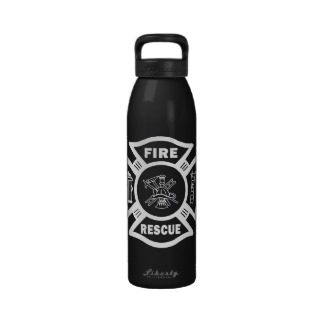 Fire Rescue and firefighter theme water bottles helping you stay hydrated