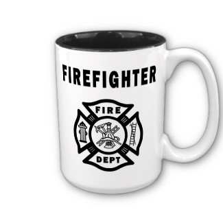 Firefighter coffee mugs for home or the fire station