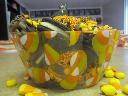 Halloween Cookies And Candy Corn Bowl