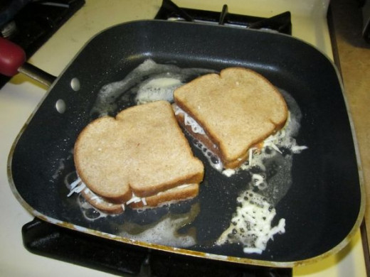 Grilled Cheese Sandwiches In The Skillet