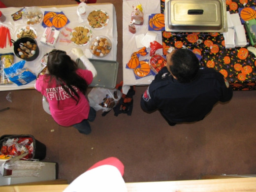Pile on the Happy Halloween trick or treats in cups, on napkins and served fresh by our firefighters and fire dept members