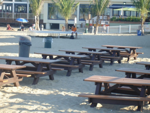 Stop by the beach picnic areas that are shaded and a beautiful place to meet up with family and friends or just take a break from the sun.