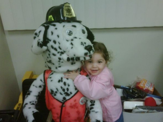 Firefighter Kids Love Sparky The Fire Dog