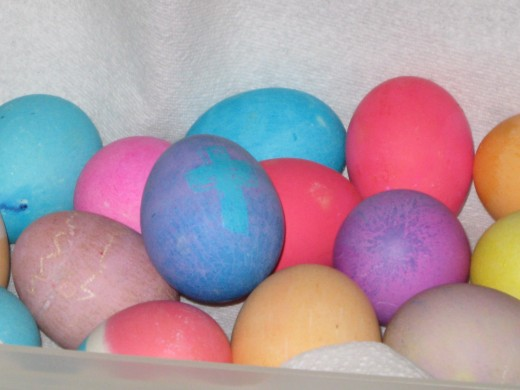 First batch of colored Easter Eggs are done