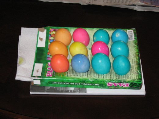 One dozen Easter Eggs almost ready