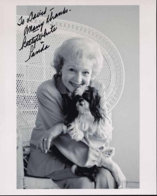 Betty White and her dog