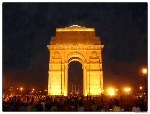 Gates and arches are major landmarks in many capital cities (for example the Arc de Triomphe in Paris) and this is New Delhi's version - India Gate.  Produced by Shashwat_Nagpal and produced under Creative Commons Attribution License Version 2.0.