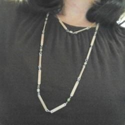 The Final Necklace - It's easy to make it as long or as short as you want!