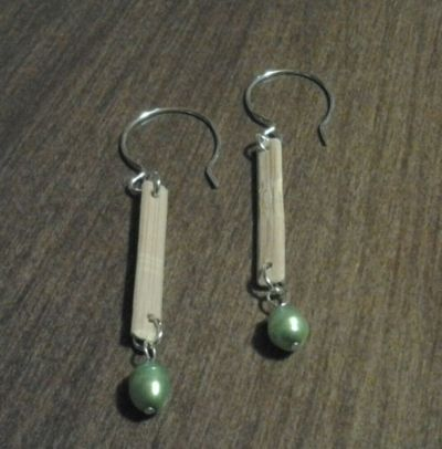 Matching Earrings for the Bamboo Link Necklace
