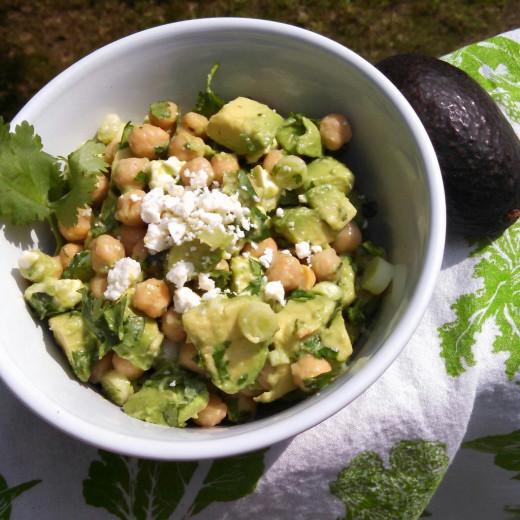 Garbanzo Avocados Salad