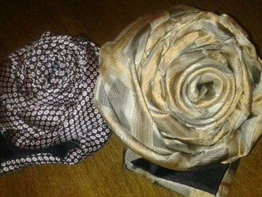 Two Necktie Roses made by M. Lobenstein