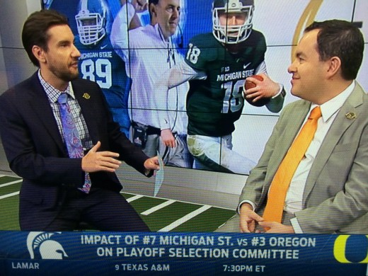 Foxs Sports 1 College Football Analysts discuss the Michigan State versus Oregon matchup.